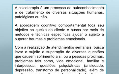 Psicoterapia Cognitivo Comportamental